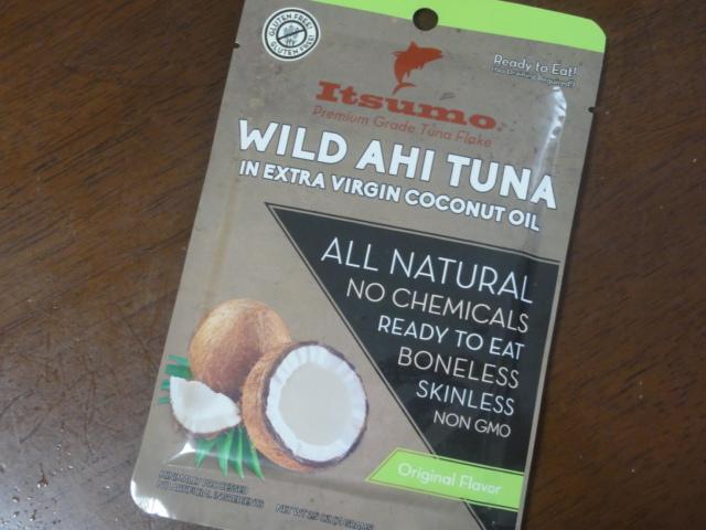 ツナフレークパウチ【Wild Ahi Tuna in extra virgin coconut oil】