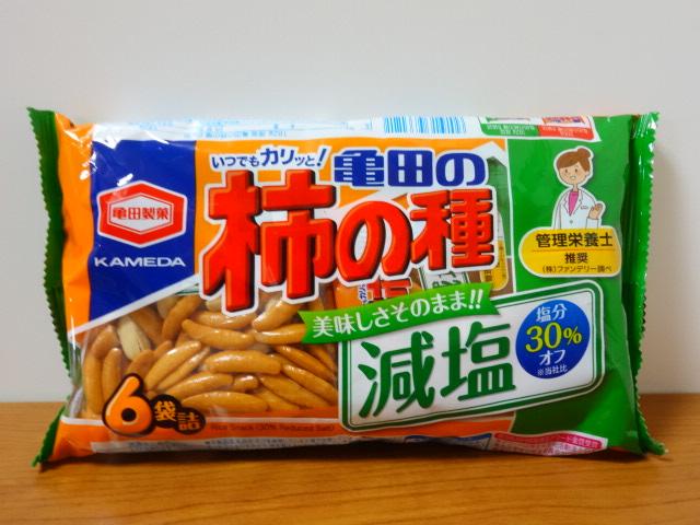 亀田製菓 減塩亀田の柿の種 6袋詰